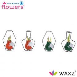 wax amaryllis kleur in vaas draadvorm steun